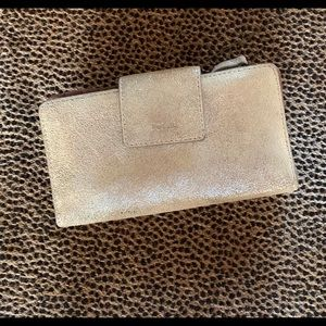 Fossil Gold Shimmer Wallet